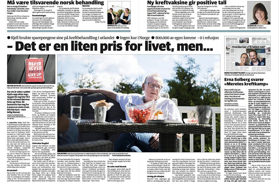 Kjell Hartvigsen – Lungekreft med spredning til bekken