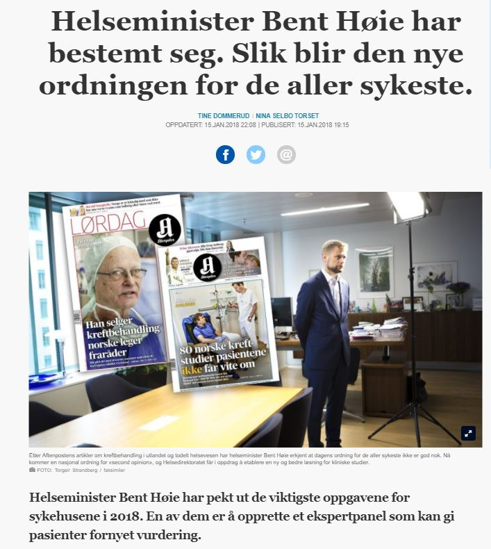 Om todelt helsevesen og 2nd opinion